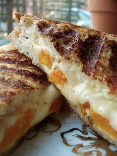 Roasted Butternut Squash and Jarlsberg Panini with Garlic Chive Mayo ...