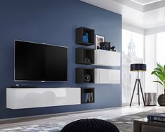 Details about boise vii - modern entertainment center / modern wall units for tv Modern Tv Cabinet, Modern Tv Wall Units, Modern Wall, Wall Units For Tv, Wall Mounted Tv Unit, Modern Entertainment Center, Entertainment Wall Units, Living Room Wall Units, Living Room Tv Unit Designs