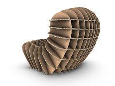 Cardboard Chair by David Graas Cardboard Chair, Diy Cardboard Furniture, Cardboard Sculpture, Cardboard Crafts, Woodworking Furniture, Cardboard Robot, Furniture Making, Cool Furniture, Furniture Design