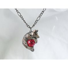 Wolf Necklace Pendant Rear View Mirror Dangle Charm Unique Cute and... ($29) ❤ liked on Polyvore featuring jewelry, clay charms, charm pendants, mirror charms, animal charms and wolf jewelry