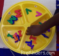 letter sorting tray plus a lot of letter recognition activities.
