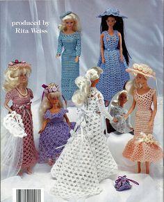 Barbie Fashion Doll Wedding Dresses Crochet Doll Pattern Book 1108 American School of Needlework. back cover