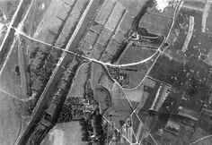 Pegasus Bridge on the extreme left of the photos, notice the 3 gliders near the bridge. On the right, are the other objectives secure by the British 6th Airborne Division.