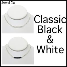New Necklaces to check out on www.jewelya.com! We always find crystal quartz & black onyx to be great, classic staples to turn to for any occasion! #newarrivals #classic #blackandwhite