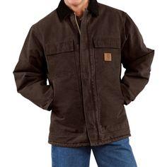 Carhartt Arctic Work Coat (For Tall Men) in Dark Brown -- nice! can we get lighter weight??