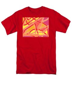 Chaos Into Form Design Red Pink Multi T-Shirt by Julia Woodman