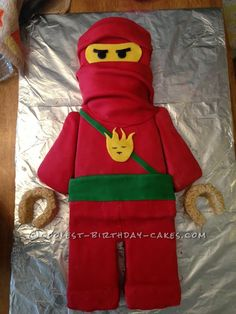 Coolest Lego Ninjago Birthday Cake... This website is the Pinterest of birthday cake ideas