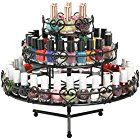 3-Tier Wedding Cake Heart Design Rotating Metal Nail Polish Display Stand Organizer Rack, Black - MyGift