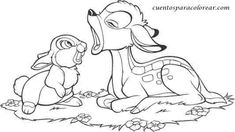 Bambi Good Friends Coloring Pages - Bambi is an animated feature film and is considered the Disney classic, according to the official canon. The film is based on the 1923 novel Bambi.
