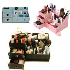 DIY Cardboard Big Storage Box Desk Decor Stationery Makeup Cosmetic Organizer #Unbranded