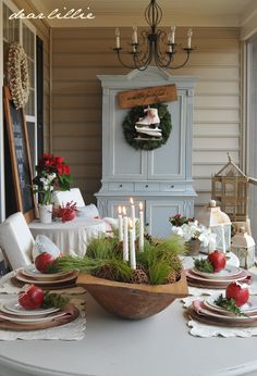 Dear Lillie:RED Christmas Porch