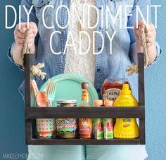 #DIY #Rangement #Cuisine Condiment Caddy / Construire son rangement de condiments.