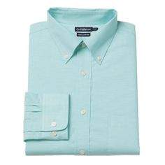 Men's Croft & Barrow® Easy-Care True Comfort Classic-Fit Oxford Stretch Dress Shirt, Size: 15-32/33, Light Blue