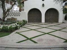 I always remember some of the beautiful green driveways in Palm Beach. When you think about how much space a driveway takes up in the yard a...