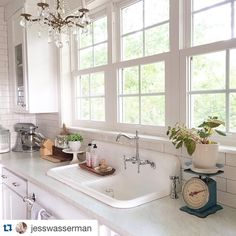 """Layla Palmer on Instagram: """"I find SO many awesome design ideas on Instagram. @jesswasserman 's marble-look laminate counters are one of my absolute FAVS! Shared six more on TheLetteredCottage.net today...come on over if you've got time to swing by! ❤️"""""""