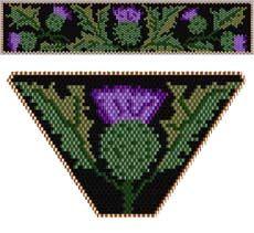 Thistle Pendant and Bracelet Set