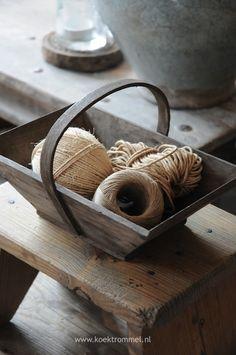 Frans plukbakje met touw