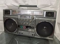 """King of Boomboxes"" the JVC RC-M90. Same as seen on the Beastie Boys Solid Gold Hits album cover."