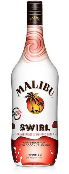 Malibu Rum Swirl Strawberries and Cream I DID NOT know this existed!