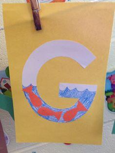 Preschool letter g craft preschool letter crafts Preschool Letter Crafts, Alphabet Letter Crafts, Preschool Lesson Plans, Alphabet For Kids, Alphabet Book, Alphabet And Numbers, Alphabet Games, Preschool Themes, Letter Of The Week