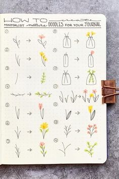 Want to add some cute little flower doodles to your bullet journal and need some ideas to get started? Check out these awesome step by step guides for inspiration! journal inspiration 17 Amazing Step By Step Flower Doodles For Bujo Addicts - Crazy Laura Bullet Journal Banner, Bullet Journal Aesthetic, Bullet Journal Notebook, Bullet Journal Ideas Pages, Bullet Journal Inspo, Bullet Journal Layout, Daily Journal, Bullet Journal Writing Styles, Bullet Journal Ideas How To Start A