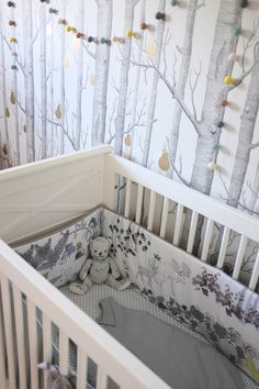 This wallpaper would transition well from nursery to little girl's room and beyond. Sri's Classic & Contemporary Amsterdam Home