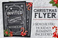 Chalk #Christmas #Flyer - Flyers