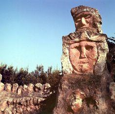 Bentivegna Art Brut, Outsider Art, Sicilian, Mount Rushmore, The Outsiders, Mountains, Nature, Fine Art Paintings, Baltic Sea