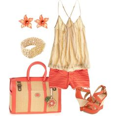 coral (CHELSEA FLOWERS Beaded Cami $85)