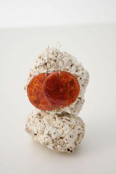 Pendientes hechos con limón - Malanga  Handmade earrings with lemon