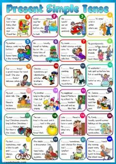 Present Simple tense Language: English Level/group: pre-intermediate School subject: English as a Second Language (ESL) Main content: Present Simple Other contents: Simple Present Tense Worksheets, Present Tense Verbs, Teaching Verbs, Teaching English Grammar, English Lessons, Learn English, Futuro Simple, Tenses Exercises, Poste Radio