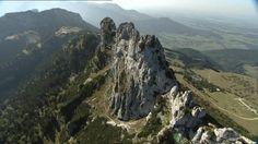 Kampenwand, Alpenpanorama, Bergkamm, Chiemgau, Berggipfel, Felsformation, Dunst, Nicht-Städtisches Motiv, Sommer, Tag, Stock Footage,