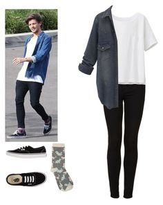 """Tomlinson"" by cc-quinn ❤ liked on Polyvore featuring Topshop, Uniqlo, Vans and M&Co"