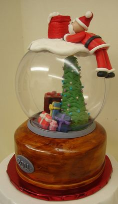 Snow Globe Cake...could probably be changed to any occasion