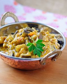 Eggplant & Chickpea Curry - she cooks, she gardens