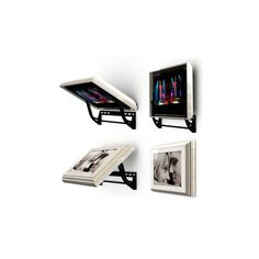 Hidden television. Flip around. Picture frame  on one side, television on the other side. Neat!