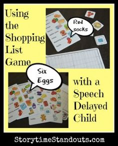 A great game to elicit conversation and build a child's vocabulary (especially in a speech delayed child): The Shopping List Game. Learning Activities, Kids Learning, Speech Delay, Pre K Activities, Easy Knitting Patterns, Homemade Toys, Language Development, Help Teaching, Early Literacy