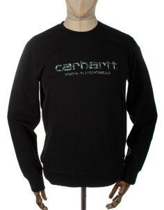 Carhartt Stain Script Sweatshirt - Blk/Camo