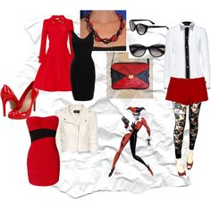 outfits inspired by harley quinn