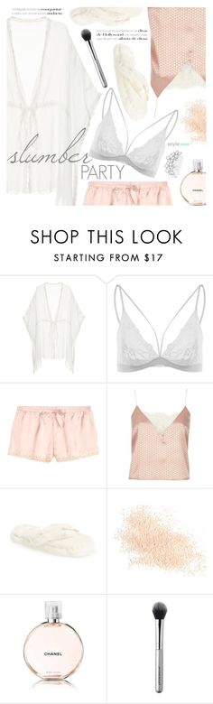 """Slumber Party"" by black-fashion83 ❤ liked on Polyvore featuring River Island, Bedroom Athletics, Eve Lom, Chanel, Japonesque and Bling Jewelry"