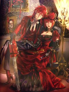 Black Butler Kuroshitsuji Grell Madam Red