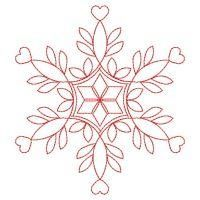 Redwork Snowflakes 4 - Wind Bell Embroidery | OregonPatchWorks