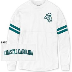 League® Coastal Carolina University Chanticleers Women's Ra Ra T-Shirt in White available at the Chanticleer Store in HTC Center and Bkstr.com