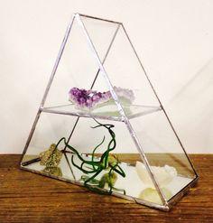 Glas en spiegel juwelen / display stand van GlasshouseUK op Etsy