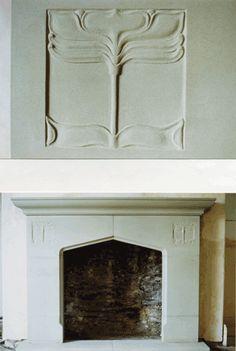 STONE ARTS & CRAFTS CO - Fireplaces; art nouveau