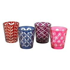 Colourful tumblers by Pols Potten.