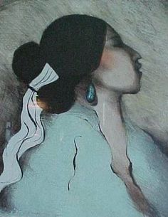 Image detail for -rc gorman lithographs for 1976 navajo woman