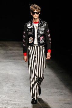 Rebel, Rocker goes Pajamas Party Topman Menswear Spring Summer 2016 London - NOWFASHION