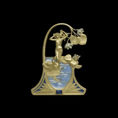Leda and the Swan Pendant by René Lalique.