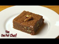 No Bake Chocolate Brownies | One Pot Chef - YouTube